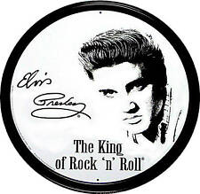 * Elvis Presley Rockabilly Schild King Rock`nRoll *201 rund
