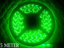 5 METER HIGH QUALITY GREEN 60 LED BLACK PCB WATERPROOF 5050 SMD LED STRIP
