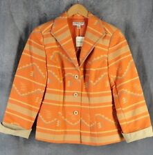 Coldwater Creek NEW 10 Petite Orange Southwestern Jacket NWT