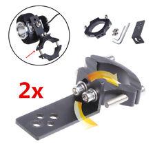 2x CNC ATV Motorcycle LED Spot Head Light Bracket Flat Plate Screw Mounting Post