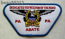 """ABATE of PENNSYLVANIA """"DEDICATED TO FREEDOM OF THE ROAD"""" VEST JACKET PATCH"""