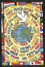 """Tom Yendell  Mond- en voetschilder  """"Vrede"""""""