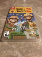 Super Mario Maker 2 Nintendo Switch Brand New Factory Sealed