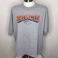 Denver Broncos Reebok T Shirt Sz XXL 2XL Gray NFL