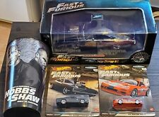 Bnib Fast & Furious Lot of 4: Jada, Hot Wheels Doms Limited Edition Charger 1:24