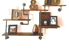 Industrial Urban Pipe Five Tier shelf Design (Pick your own stain)(1x6 or 1x8)