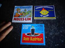 Ancienne Etiquette Bouteille de Limonade Le Lutin Mouss-Lim Soda Lons le Saunier