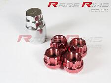 Red Locking Wheel Nuts x 4 12x1.5 mm Fits Mitsubishi EVO Lancer FTO GTO