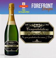 Personalised Champagne bottle label, Perfect Birthday/Wedding/Graduation Gift