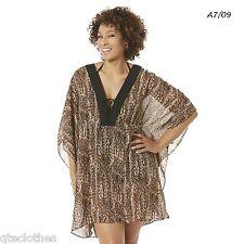 JACLYN SMITH NEW Cover Up Wear Tunic Length Caftan Top Plus OSFM 2X 3X 4X QCO