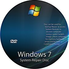 Microsoft Windows 7 64-bit OS Recovery Fix Disk 1st class 📮FAST Royal Mail 📮