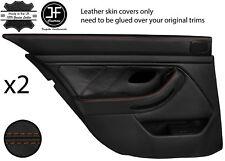 Brown Stitch Arrière 2X complet porte carte en cuir couvre Fits BMW 5 Series E39 95-03