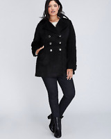 Lane Bryant Military Double Breasted Coat 14/16 18/20 22/24 26/28 ~1x 2x 3x 4x