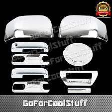 2015 FORD F-150 2 Door Handle+Base Plate+Mirror+Tailgate+Gas Abs Chrome Covers