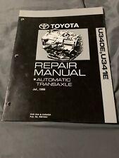Toyota (YARIS, ECHO, CELICA) U340E, U341E Automatic Transaxle Repair Manual