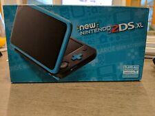 Good condition New Nintendo 2DS XL Handheld System - Black & Turquoise CIB