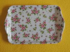 Ambiente 1x Tablett EVELYN kleine viele Rosen Blumen  Melamin 13 x 21 trays