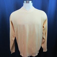 Tommy Bahama Men's XLarge Yellow V-Neck Sweater Long Sleeves