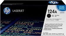 NEW HP 124A Black Original Toner Cartridge (Q6000A)