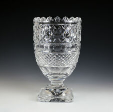 """Waterford Crystal footed Centerpiece Vase 11"""" sawtooth rim, square base,"""