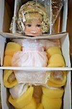 "Marie Osmond BABY MARY BETH Doll  porcelain 12"" seated    (520) C11062 Rare"