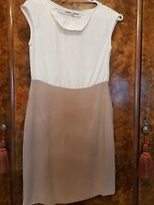 Lk Bennett  ivory and beige dress size 10