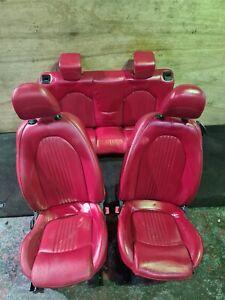 ALFA ROMEO MITO INTERIOR RED LEATHER SEATS COMPLETE FULL SET