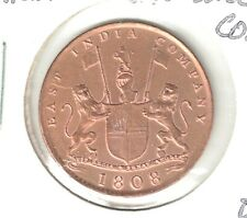 Brilliant Uncirculated 1808 East India Company 10 Cash Gardner Shipwreck Coin