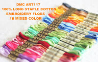 DMC NEW 18 MIXED COLORS #48-#125 ART#117 Embroidery Floss  8.7 yards 6-strands U