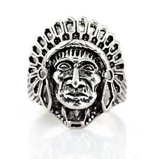 NEW Hot sell 316l stainless steel Fashion Punk design Indian ring US size11 T04
