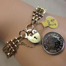 9 ct GOLD second hand 4 bar gate bracelet