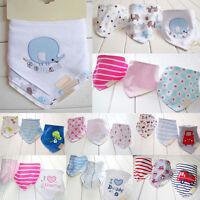 3Pcs/set Infant Toddler Kid Baby Roll Bibs Girl Boy Saliva Towel Dribble Bandana