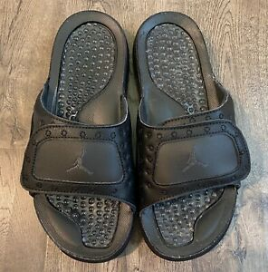 Nike Air Jordan Hydro XIII 13 Retro Men's 8 Slides Sandal Black 684915-011 NoBox