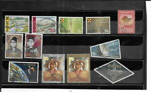 MALAYSIA 1963-1970. SELECTION OF 12. VERY FINE USED. AS PER SCAN