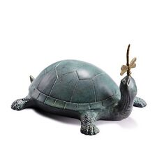 Turtle Dragonfly Friend  Hide A Key Box Metal Garden Sculpture Security