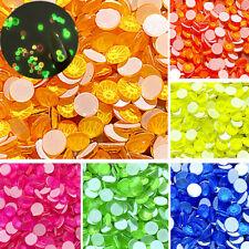 Nail Art Rhinestones Flatback Luminous Gems Mixed Sizes Crystals 3D Tips Decor