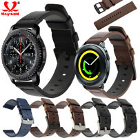 20/22mm Genuine  Leather Replacement Band Strap For Samsung Galaxy Watch 46/42mm