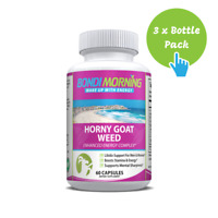 Horny Goat Weed Complex, Maca Root Supplement for Men & Women - 60 Caps x 3