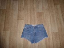 ZARA Jeans Shorts Hot Pants Hoher Bund Blau Gr.34 **w.NEU**