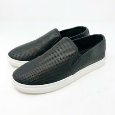 Steve Madden Sneakers 7.5 Flats Perforated Black Slip-on Zach