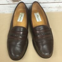 Mezlan Mens Size 9 M Brown Leather Loafers Shoes Made In Spain