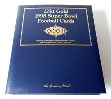 1998 Danbury Mint 22kt Gold Denver Broncos Super Bowl Xxxii Set In Binder (30)