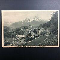 Vintage Berchtesgaden mit dem Watzmann Landmark Mountain Alps Bavaria Unusual