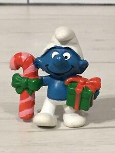 Vintage Peyo/Schleich Christmas smurf/Schlumpf/Schtroumpf
