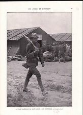 Boys Soldiers Sammies Soldats Sentinelle Uniforme Camp US Army Saint-Nazaire WWI