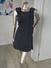 Black 100% silk dress By SULU BRAND NEW size 6 Ruffle Feathers Little Black Drs