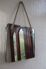 WALL MOUNTED MIRROR WITH ROPE PLAIN MIRROR WITH HANGING ROPE SMALL