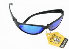 Calcutta Carolina Sunglass Matte Black Frame/Blue Mir Lens # CL1BM
