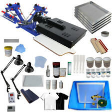 3 Color Silk Screen Printing Kit Machine with Flash Dryer DIY Material Tools New