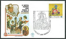 1983 VATICANO VIAGGI DEL PAPA POLONIA KATOWICE - SV